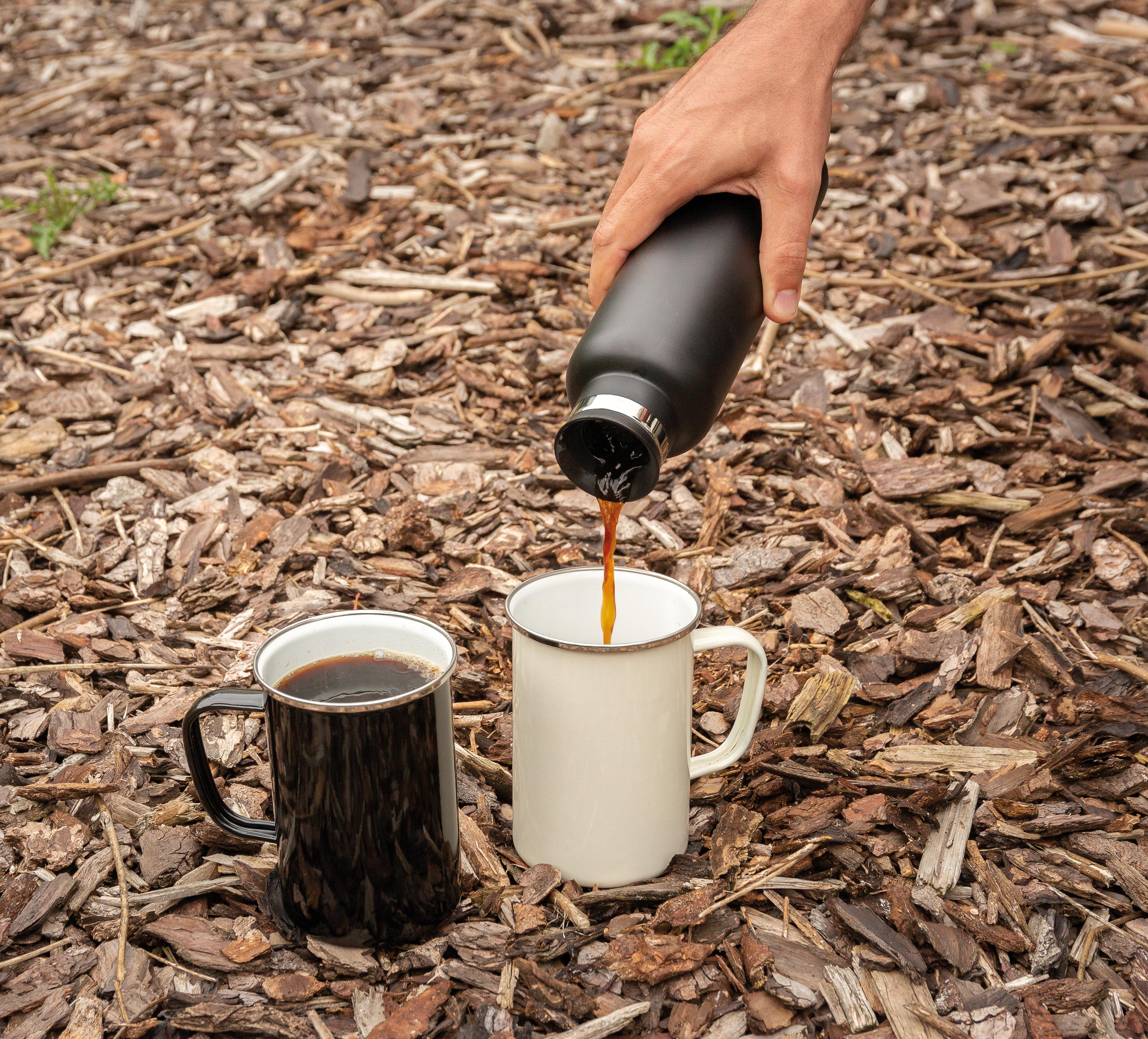 Emaille Tassen als Werbeartikel mit Logo
