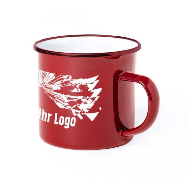 Choice Emaille Tasse eingefärbt rot