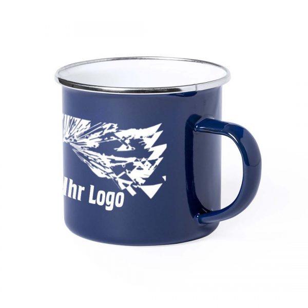 Deluxe Emaille Tasse blau